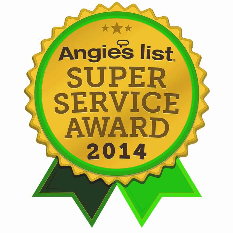 2014 Super Service Award from Angies List
